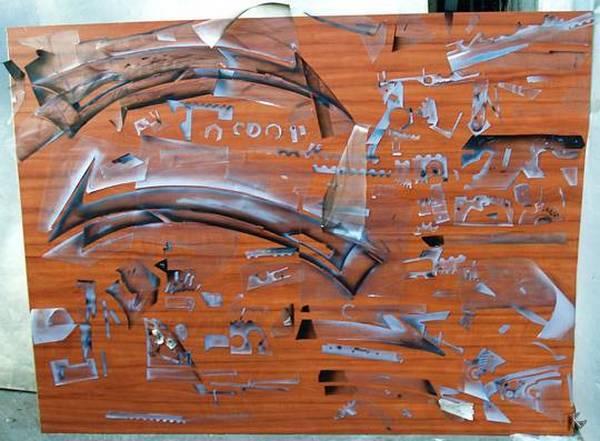 Трафареты для аэрографии на авто. Подбор рисунка шаблона и методы изготовления своими руками.